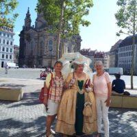Frauenkirche Unternehmernetzwerk RegioChance Stadtrundgang mit Renata Linné als Fürstin Lubomirska